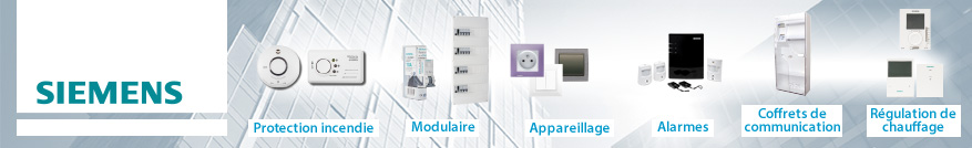 Tableaux électriques de la marque Siemens