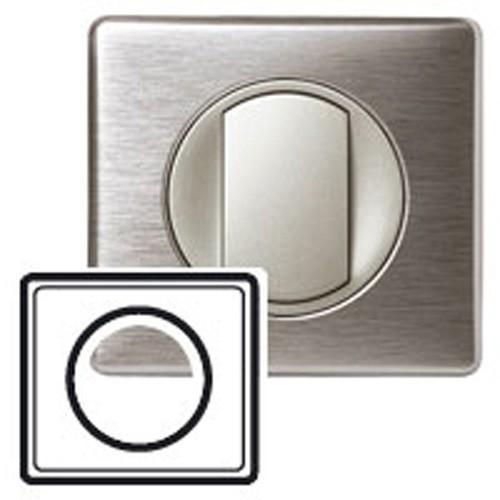 plaque m tal anodis legrand c liane simple aluminium 068921. Black Bedroom Furniture Sets. Home Design Ideas