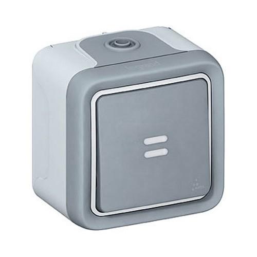 Legrand plexo interrupteur va et vient voyant lumineux for Interrupteur exterieur legrand