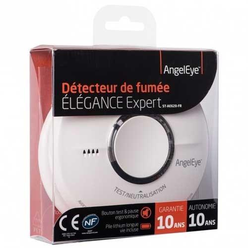 Angeleye elegance expert d tecteur de fum e lithium garantie 10 ans - Detecteur de fumee hager ...