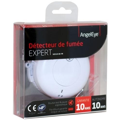 Angeleye expert d tecteur avertisseur autonome de fum e lithium garantie 10 ans - Detecteur de fumee hager ...