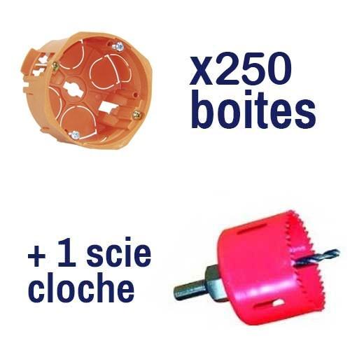 250 boites encastrement capriclips d67 p40 scie cloche - Scie cloche 67 ...