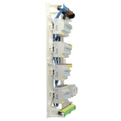 HAGER Gamma Tableau électrique prééquipé 14 disjoncteurs 4 rangées 2ID 40A 2ID 63A