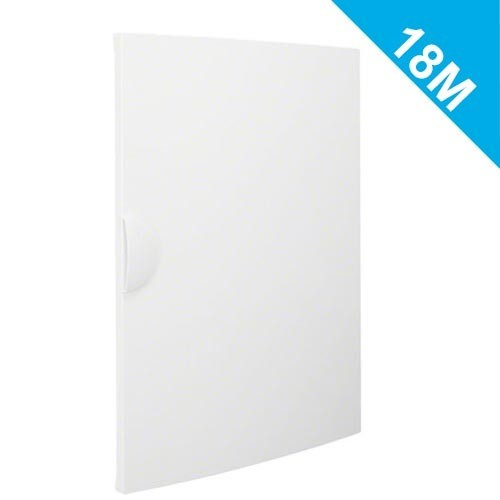 hager gamma 18 porte opaque pour coffret de distribution lectrique 3 rang es 18 modules. Black Bedroom Furniture Sets. Home Design Ideas