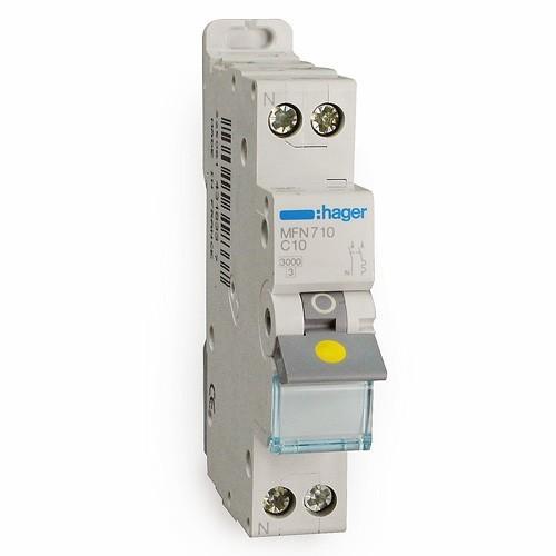 HAGER Disjoncteur àborne àvis Phase Neutre 10A