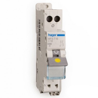 HAGER Disjoncteur 16A AUTO Phase Neutre