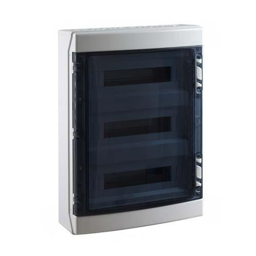 IDE Tableau électrique étanche 3 rangées 18 modules IP65 - CDN54PT/RR