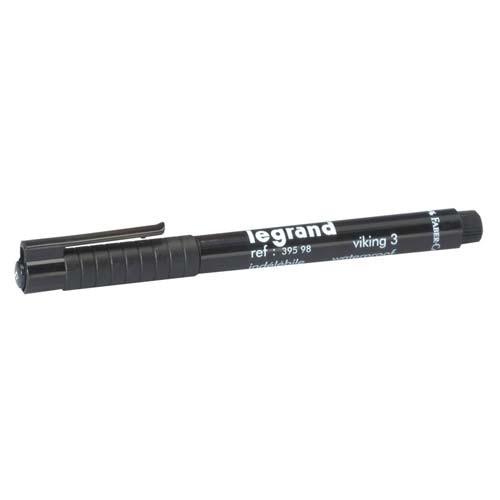 LEGRAND Stylo feutre noir indélébile pour repérage - 039598