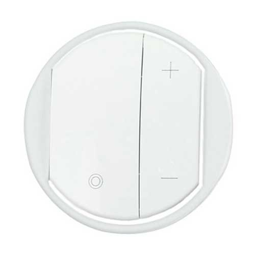 enjoliveur interrupteur variateur legrand c liane blanc 065083. Black Bedroom Furniture Sets. Home Design Ideas