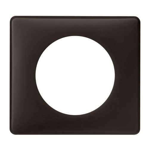 legrand c liane plaque poudr 1 poste basalte 066741. Black Bedroom Furniture Sets. Home Design Ideas