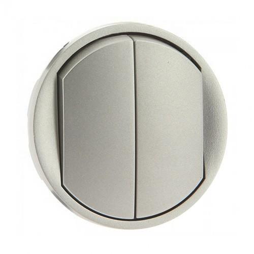 enjoliveur interrupteur double legrand c liane titane 068302. Black Bedroom Furniture Sets. Home Design Ideas