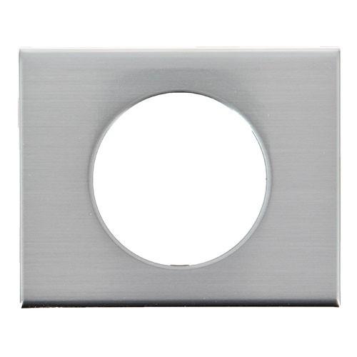 legrand c liane plaque m tal 1 poste inox bross 069101. Black Bedroom Furniture Sets. Home Design Ideas