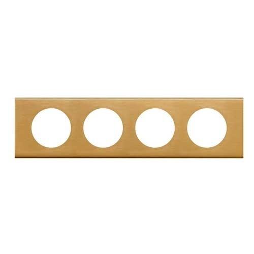 LEGRAND Céliane Plaque Matières 4 postes Bronze doré - 069134