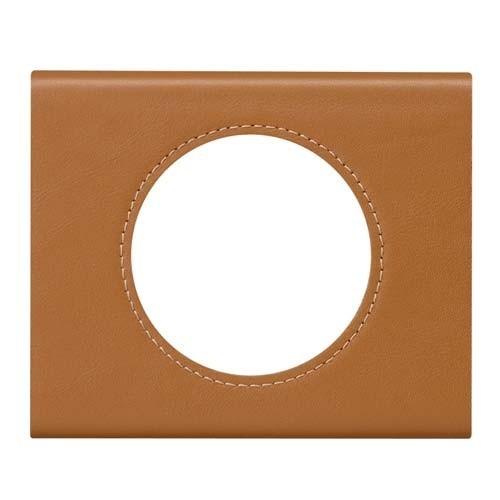 plaque mati res legrand c liane simple cuir caramel 069421. Black Bedroom Furniture Sets. Home Design Ideas