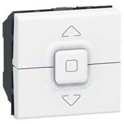 bouton poussoir pour volets roulants legrand mosaic blanc 077025. Black Bedroom Furniture Sets. Home Design Ideas