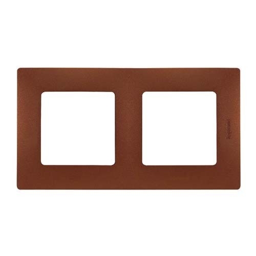 LEGRAND Niloé Plaque double 2 postes Cacao - 096718