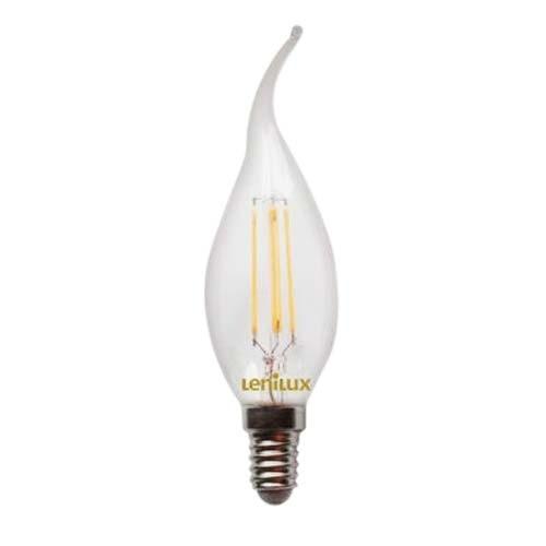 Ampoule led filament lenilux e14 230v 4w 45w flamme coup - Ampoule led e10 230v ...