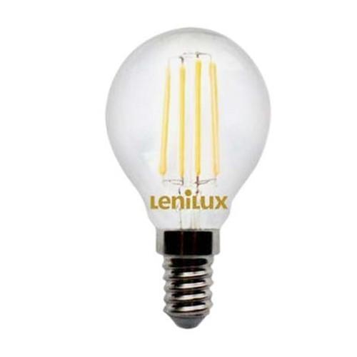 ampoule led filament lenilux e14 230v 4w 45w sph rique 340077. Black Bedroom Furniture Sets. Home Design Ideas