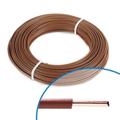 Fil électrique rigide HO7VU 1.5² marron - Couronne de 100m