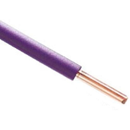 Fil électrique rigide HO7VU 1.5² violet - Couronne de 100m - 2