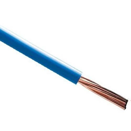 Fil électrique rigide HO7VR 16² bleu au mètre