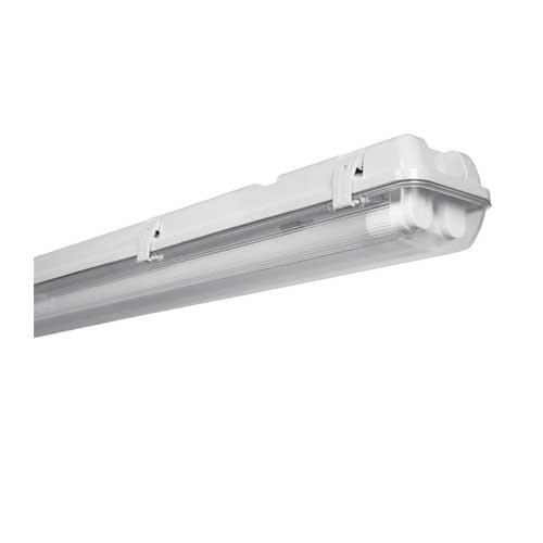 r glette led tanche avec 2 tubes led osram 16w 60cm gris submarine. Black Bedroom Furniture Sets. Home Design Ideas