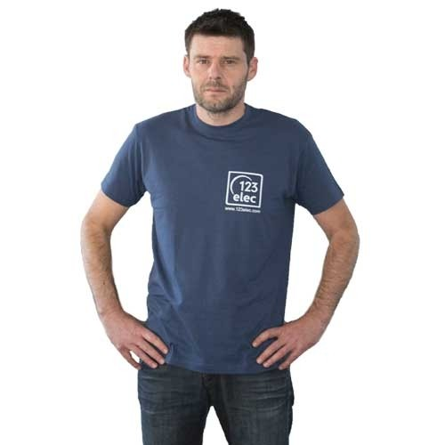 Tee-Shirt 123elec Bleu denim Taille L