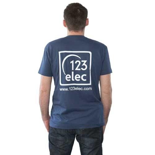 Tee-Shirt 123elec Bleu denim Taille L - 2