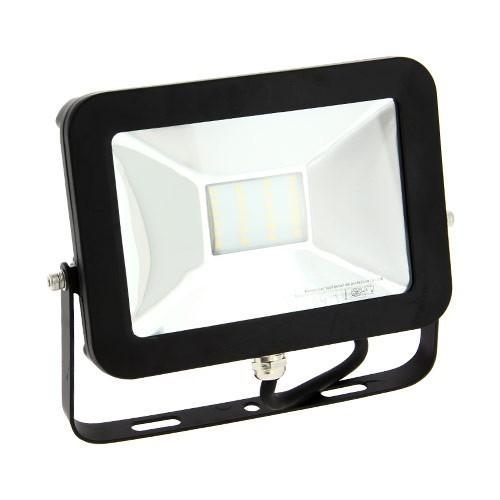 projecteur ext rieur led extra plat 230v 20w 1600lm noir. Black Bedroom Furniture Sets. Home Design Ideas