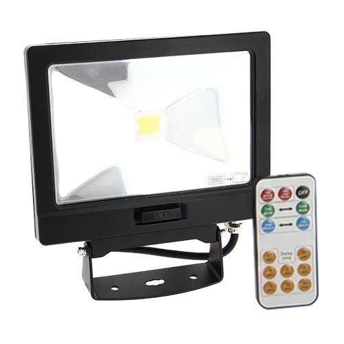 Projecteur ext rieur led extra plat 30w d tection avec - Telecommande eclairage exterieur legrand ...