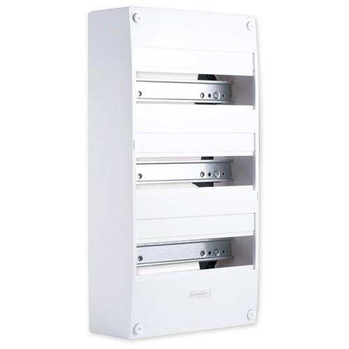 schneider opale tableau lectrique 3 rang es de 13 modules 13403. Black Bedroom Furniture Sets. Home Design Ideas