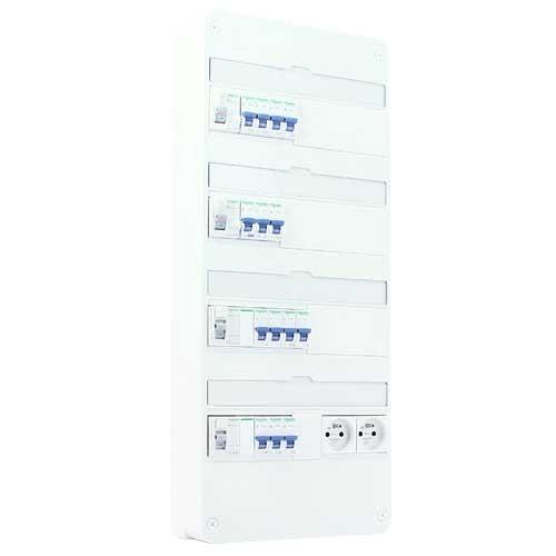 SCHNEIDER Resi9 XP Tableau électrique pré-équipé 4 rangées avec prises