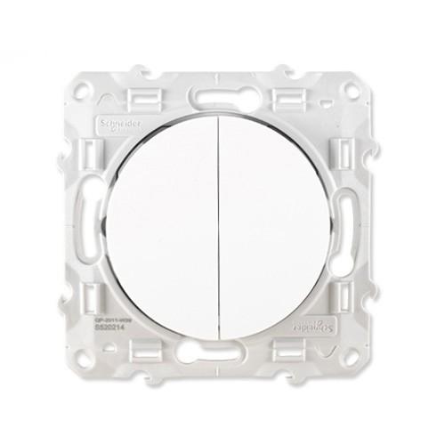 SCHNEIDER Odace Mécanisme interrupteur double poussoir