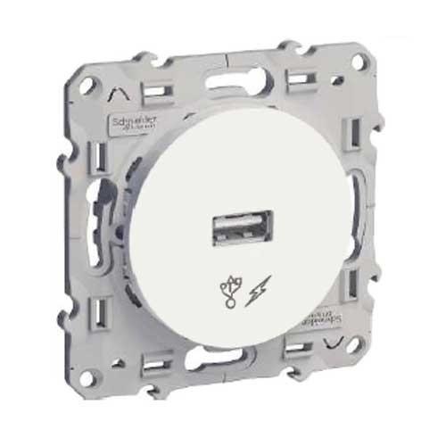 SCHNEIDER Odace Mécanisme prise chargeur USB - S520408 - 2