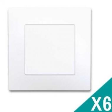 SIEMENS Delta Viva Lot de 6 interrupteurs va et vient complets - Blanc - 2