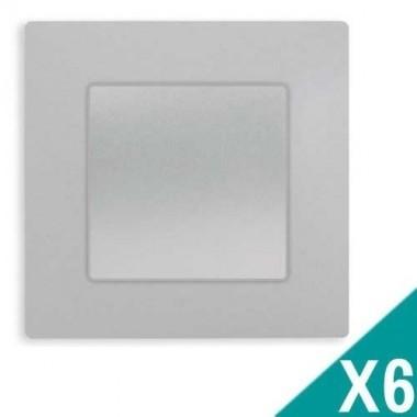 SIEMENS Delta Viva Lot de 6 interrupteurs va et vient complets - Silver - 2