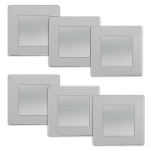 SIEMENS Delta Viva Lot de 6 interrupteurs va et vient complets - Silver