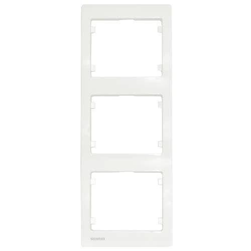 SIEMENS Delta Iris Plaque triple verticale blanc