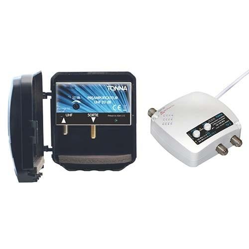 TONNA Kit préamplificateur de mât 4G avec alimentation commutable