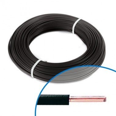 Fil électrique rigide HO7VU 2.5² noir - Couronne de 100m