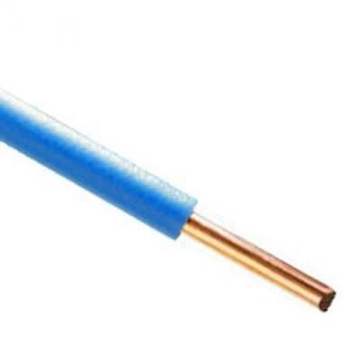 Fil lectrique rigide ho7vu 2 5 bleu couronne de 100m - Plinthe cache fil electrique ...