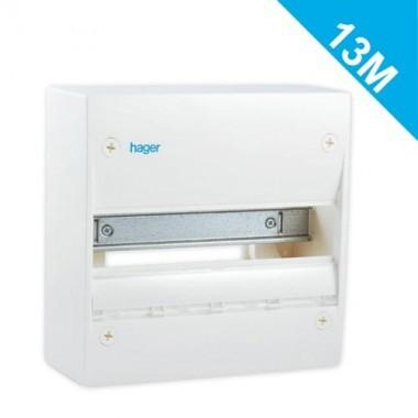 HAGER Tableau électrique nu 1 rangée 13 modules