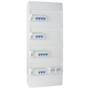 SCHNEIDER XP Tableau électrique prééquipé 4 rangées avec prise