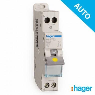 HAGER Disjoncteur AUTO Phase Neutre 32A