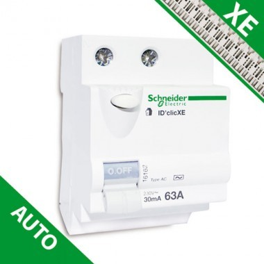 SCHNEIDER XE Interrupteur différentiel DCLIC 63A 30mA type AC