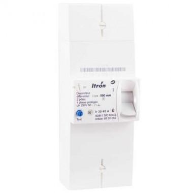 ITRON Disjoncteur d'abonné monophasé 30/60A 500mA Sélectif