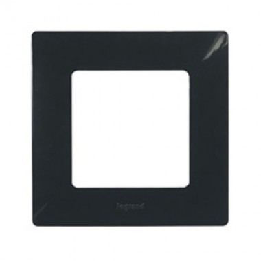 LEGRAND Niloé Plaque simple 1 poste onyx