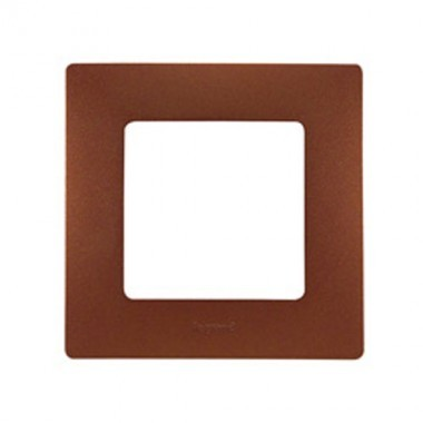 LEGRAND Niloé Plaque simple 1 poste Cacao - 096708