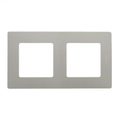 LEGRAND Niloé Plaque double 2 postes Galet - 096714