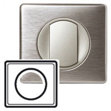 LEGRAND Céliane Plaque - Anodisé - 1 poste Aluminium - 2